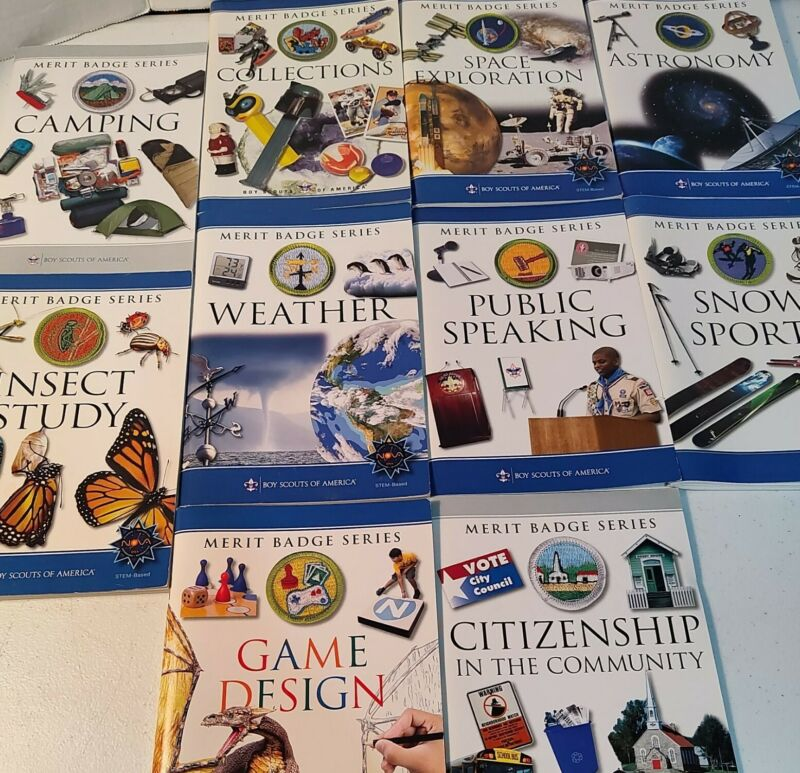 Boy Scout Merit Badge Series Books Set Of 10