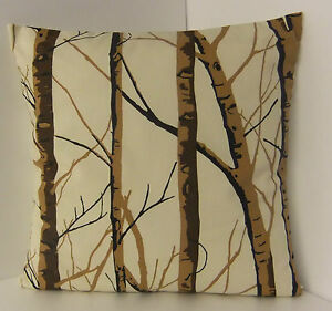 SINGLE-STYLISH-CUSHION-COVERS-CREAM-DARK-BROWN-BLACK-WILLOW-LIGHT-BROWN-TREE