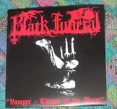 BLACK FUNERAL vampyr  throne of the beast LP first press  mayhem darkthrone absu