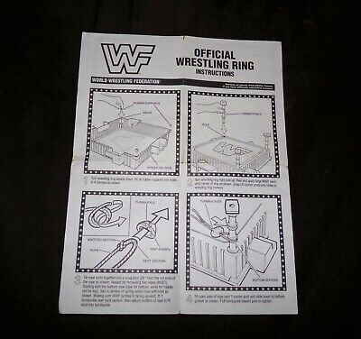 Vintage WWF Hasbro Wrestling Ring Original Instructions Manual Sheet WWE WCW AEW