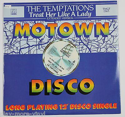 "THE TEMPTATIONS Treat Her Like A Lady 12"" vinyl UK 1984 Motown"