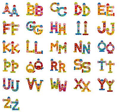 Holzbuchstaben von A-Z für Kinderzimmer, Namensschild, Türschild ()