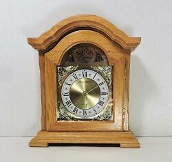 Daniel Dakota Tempus Quartz Westminster Wood Mantle Clock TESTED!
