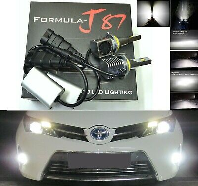 LED Kit S 80W 9005 HB3 6000K White Two Bulbs Light DRL Daytime Replacement Lamp