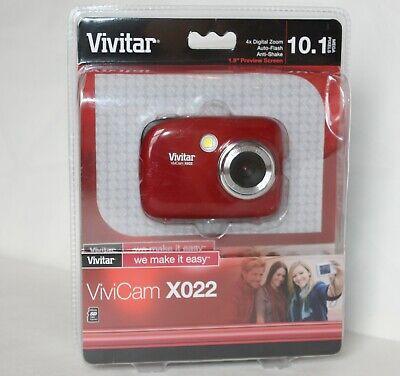 Vivitar ViviCam X022 10.1 Mega Pixels Red Digital Camera