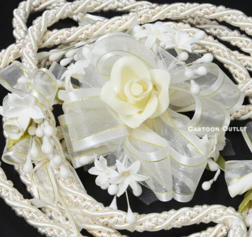 Ivory Wedding Lasso Rope Wedding Lazo de Boda  Ivory Gold Lasso Cord Bridal