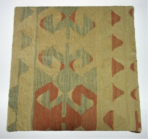 """Dhurrie Rug Framed Textile Wall Hanging Art Picture Boho Natural Wool 20"""" x 20"""""""