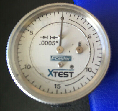 Fowler Xtest Double Range Dial Test Indicato Vertical 0-0.060.0005 52-562-004