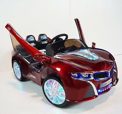 RIDE ON ELECTRIC  CAR BMW I8 STYLE  KIDS PARENTAL REMOTE CONTROL 12V RED PAINT