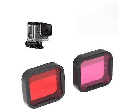 Red and Magenta Filter Lens For GoPro HERO 5 & 6 Super Suit Housing