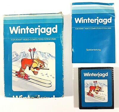 Atari Vcs Game Winterjagd Dt. Pal Original Packaging