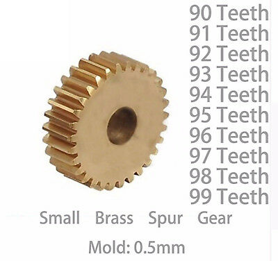 X1 One 0.5m 90 91 92 93 94 95 96 97 98 99 Teeth Small Brass Spur Gear Cnc Lathe