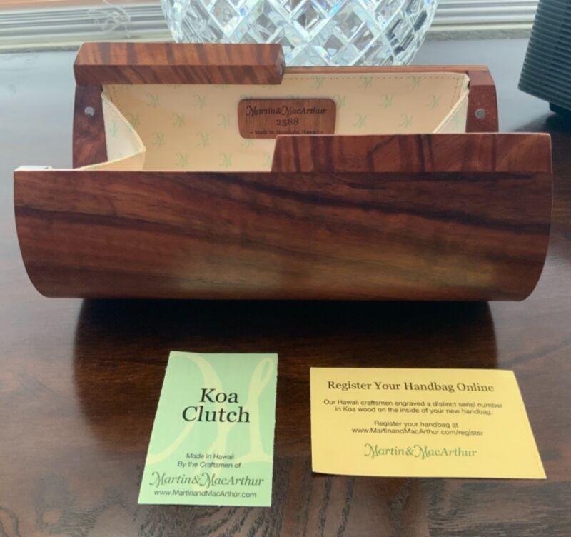 Martin & MacArthur Koa Wood Clutch