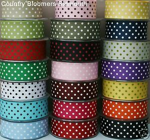 May-Arts-Grosgrain-Polka-Dot-Ribbon-38mm-1-Metre-Assorted-Colours