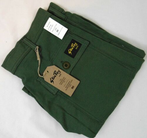 Stan Ray 4 Pocket Fatigue Short 10 Inch Inseam Olive Cotton Sateen Made in USA
