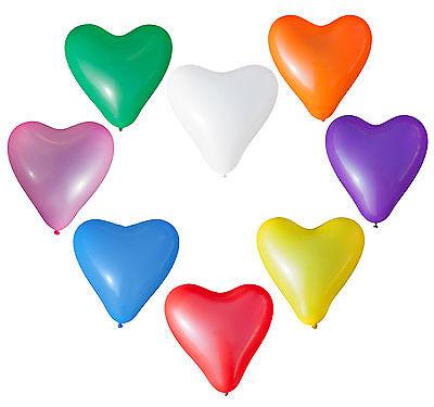 Herz Luftballons - Farbe & Stückzahl wählbar - Dekoration Festlichkeit Hochzeit