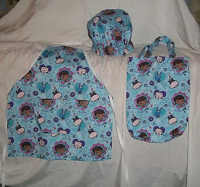 Doc Mc Stuffin Apron, or Chef Hat or Tote Gift Bag Homemade](Doc Stuffin)