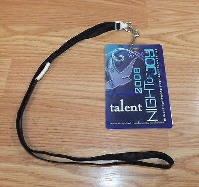 2008 Disney's Hollywood Studios Night of Joy Talent Pass Card & Lanyard *RARE*