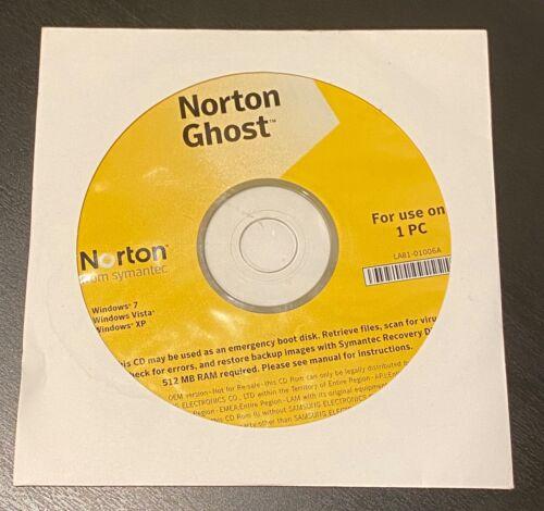 NOS Symantec Norton Ghost 15.0 NEW - Windows 7 Windows Vista Windows XP