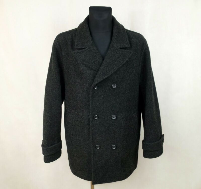 MATINIQUE MENS WOOL GREY COAT made in PORTUGAL size XL
