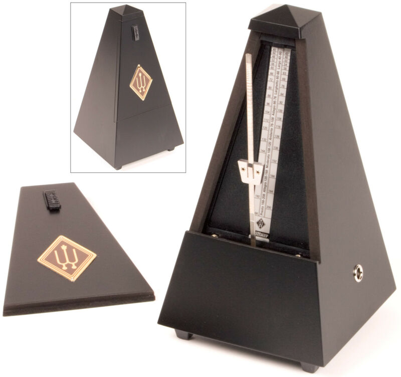 Wittner Traditional 806M Metronome: Black Finished Wood - AUTHORIZED DEALER!