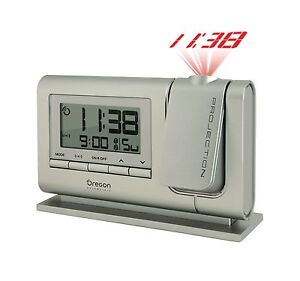 Oregon Scientific Classic Projection Radio Controlled Alarm Clock RM308P Silver