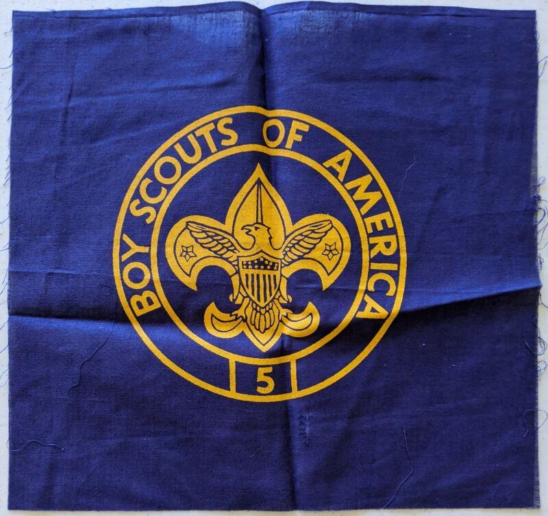 5 Year Veteran Unit Silkscreened Troop Flag Emblem Boy Scouts of America BSA