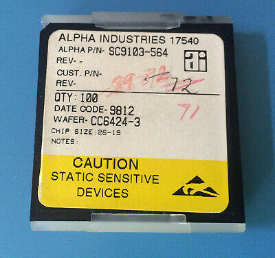 71x Sc9103-564 Alpha Industries Capacitor Chip Rf Microwave Product Size 26-19