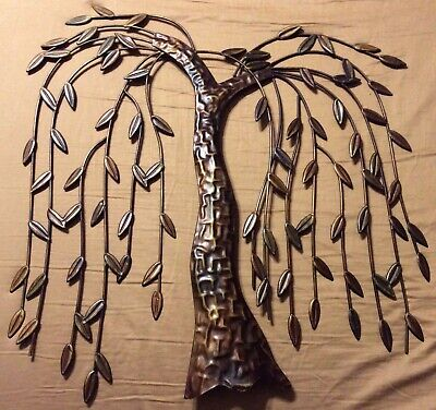 Metal Weeping Willow Tree Home Interior Wall Art Hanging Decoration Sculpture Willow Wall Sculpture
