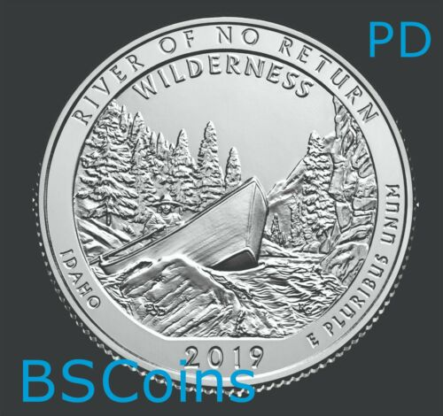 2019 P&D ATB Qtrs River of No Return Wilderness, ID - BU TWO Coins - PRESALE