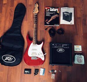 Guitare électrique PEAVEY raptor et accessoires