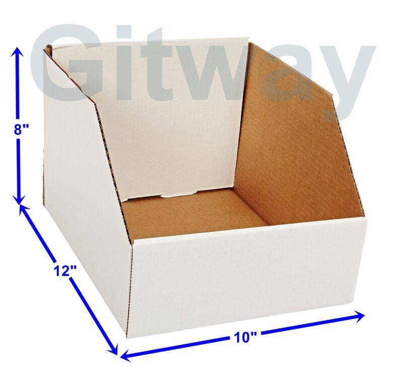 "25 pcs 10"" X 12"" x 8"" Corrugated Cardboard Open Top Storage Parts Bin Bins Boxes"