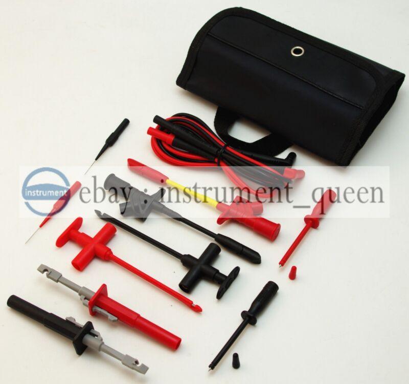 KIT insulation quick hook 4mm banana plug Piercing test probe For Car Circuit
