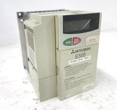 Mitsubishi Fr-e520-1.5k-na 2hp Ac Inverter Drive E500 240v 3ph 2 Hp Vfd