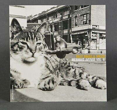 Wilco and Billy Bragg Poster Flat Mermaid Avenue 2 RARE PROMO 12X12 POSTER FLAT