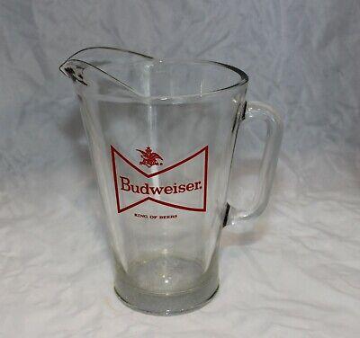 Vintage Budweiser Beer Glass Pitcher