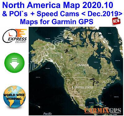 2020 North America City Maps nt+Speed Cameras for Garmin GPS Navigator & SD Card