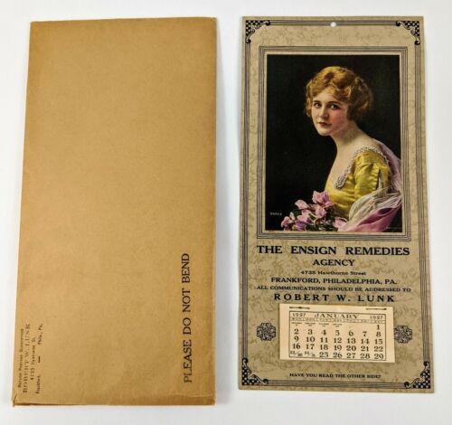 Ensign Remedies Agency For Home Quack Medicine Philadelphia Pa 1927 Calendar