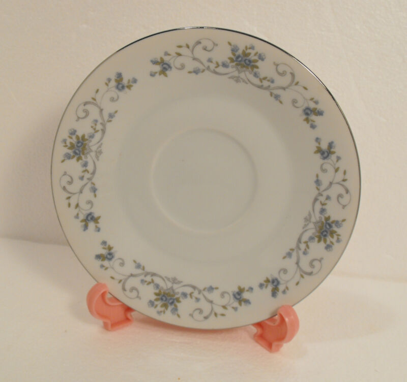 FINE CHINA JAPAN BLUE ROSE  SAUCER