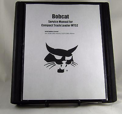 Bobcat Mt52  Compact Track Loader Service Manual