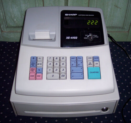 Sharp XE-A102 Electronic Cash Register With Key Great Condition