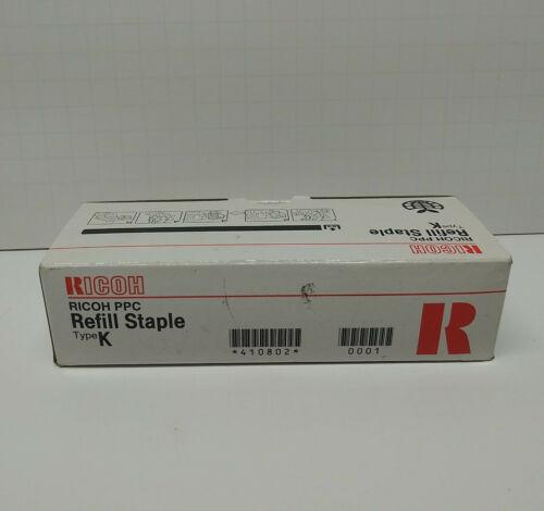 OEM Ricoh 410802 Refill Staple Cartridges Type K - 3 Cartridges - 15,000 Staples