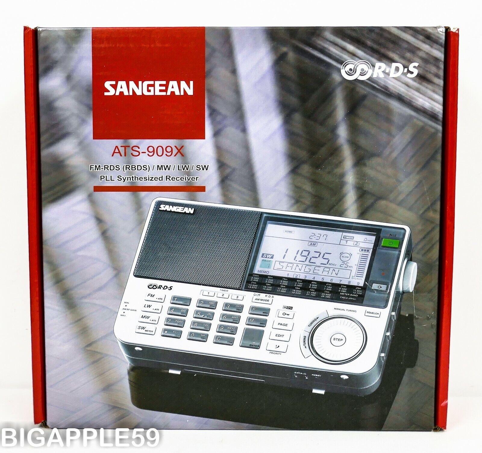 Sangean ATS-909X Shortwave AM FM World Band Radio Receiver *