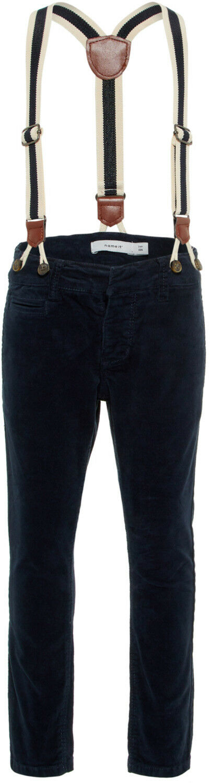 Name it Jungen Cordhose mit Hosenträgern NMMROBIN dunkelblau festliche Hose