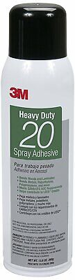 3m 07861 Heavy Duty 20 Spray Adhesive Clear Net Wt 13.8 Oz