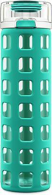 Glass Bottle With Lid (Ello Syndicate Glass Water Bottle with One-Touch Flip)