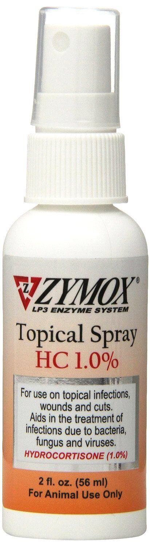 Zymox Topical Spray Hydrocortisone 1 Dog Cat Topical