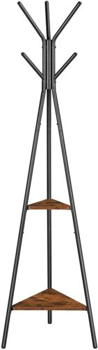 Coat Rack Stand, Coat Tree, Hall Tree Free Standing, Industrial Style URCR16BX