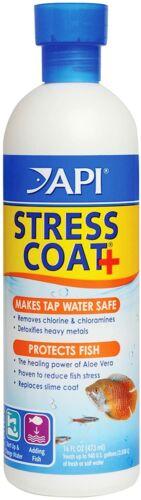 API STRESS COAT Aquarium Water Conditioner 16-Ounce Bottle✔️