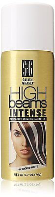 Temporary White Hair Color Spray (High Beams Intense Wicked White Hair Color Temporary Wash Out Costume)